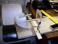 изготовление носовой часть авиамодели