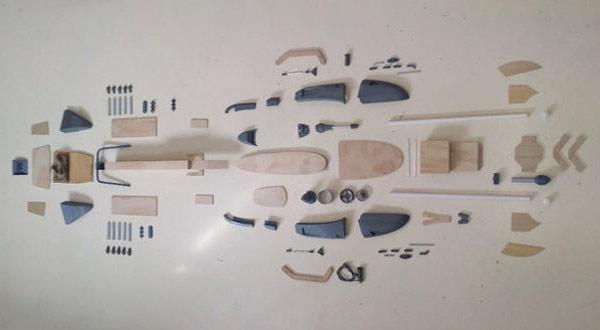 детали для изготовления имперского скоростного байка из фильма Звездные войны