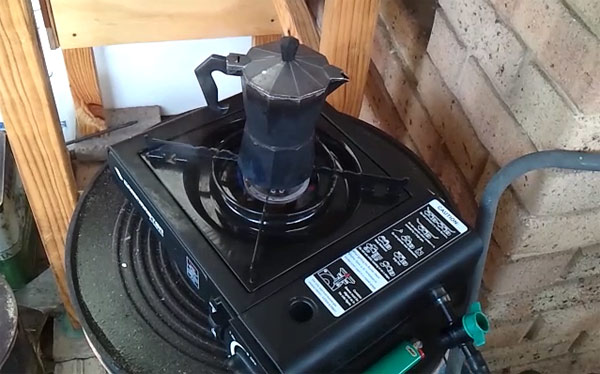 однокомфорочная печь работающая на биогазе