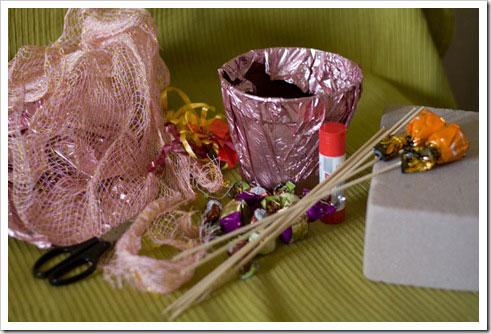 Букеты из конфет своими руками цветы