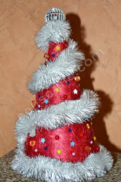 новогодняя елка (колпак) своими руками