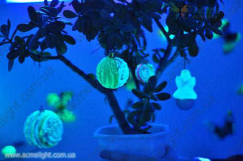 новогодние игрушки светящиеся в ультрафиолете