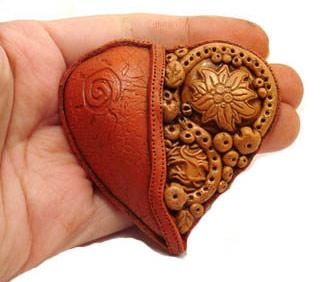 как сделать сердце кулон