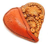кулон сердце своими руками из полимерной глины