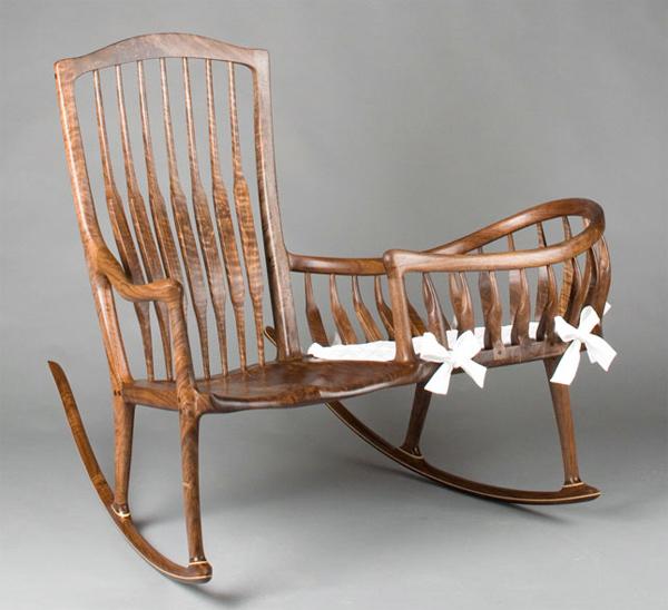 кресло качалка с колыбелью своими руками