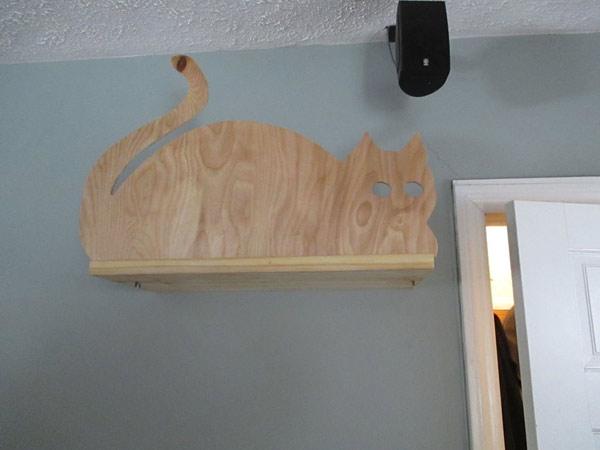 настенный домик для кошки