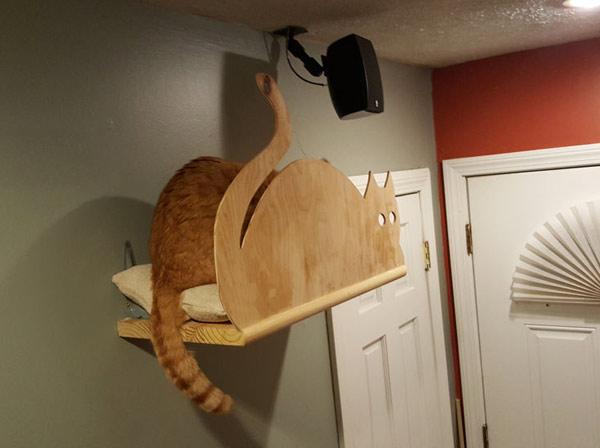 домик для кошки на стене своими руками