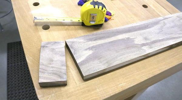 доска для изготовления деревянного коврика