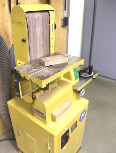 шлифовка плашек для деревянного коврика