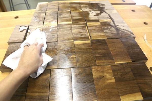 пропитка деревянного коврика маслом
