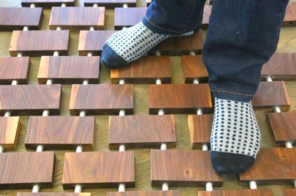 самодельный деревянный коврик