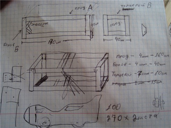 чертеж детской кровати машины
