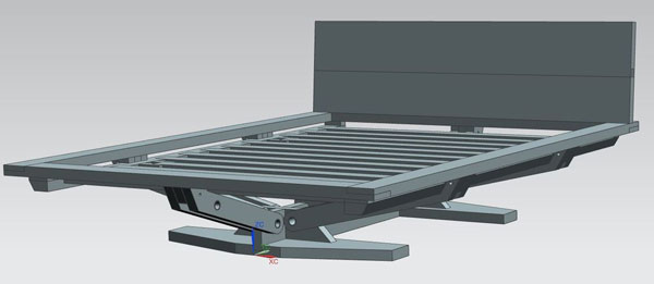 3D модель современной кровати