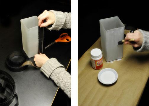 декорирование светильника своими руками