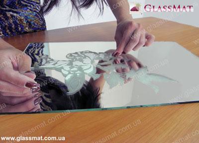 матирование зеркала