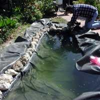 изготовление пруда