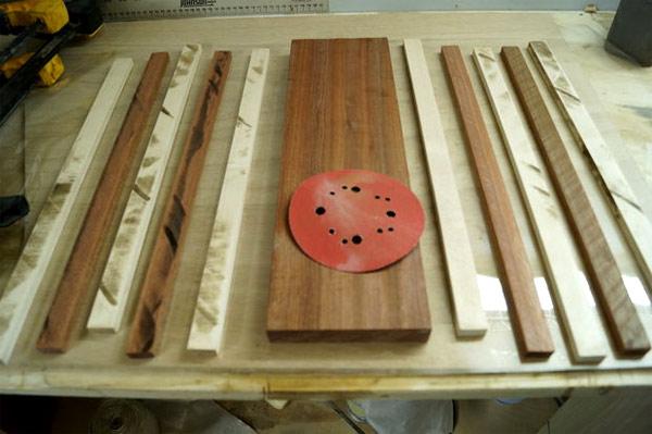 нарезка реек для изготовления разделочной доски
