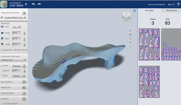 разбитие 3D модели на слои