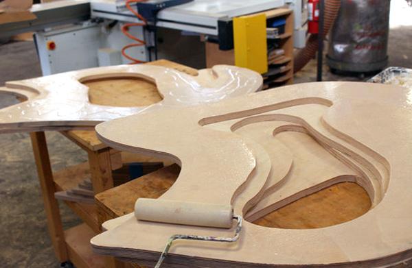 склейка слоев скамейки