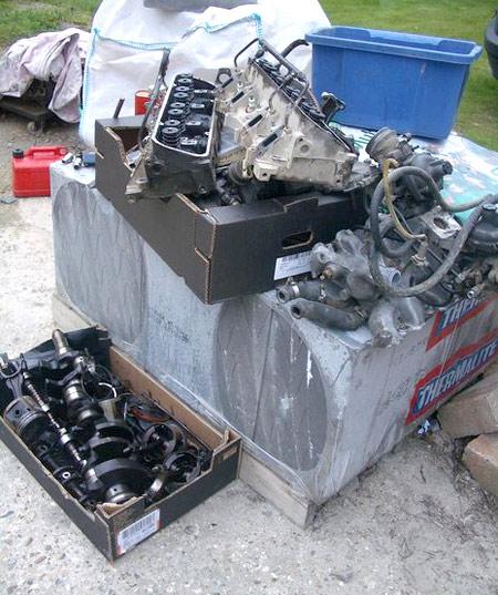 разборка двигателя v8