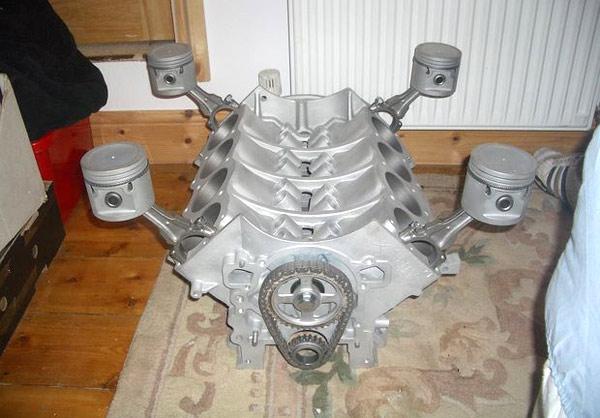 двигатель V8 для изготовления журнального стола