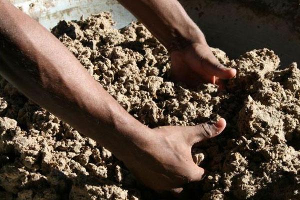 изготовление камня из картона