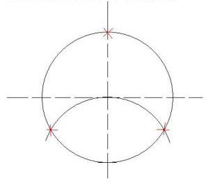 деление окружности на три части