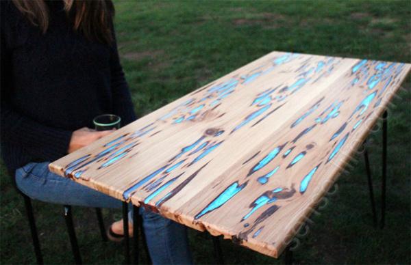 оригинальный светящийся стол своими руками