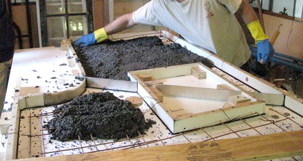 цементный раствор для изготовления столешницы из бетона