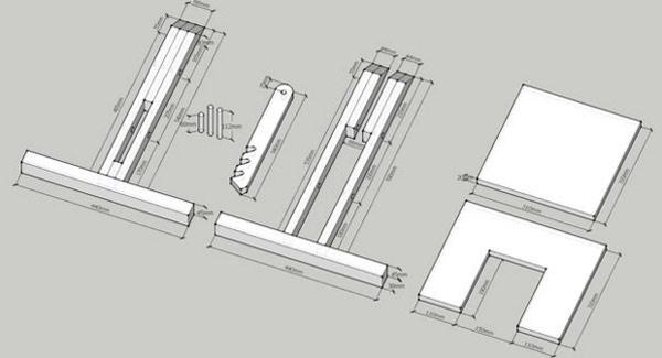 чертежи коленного стула
