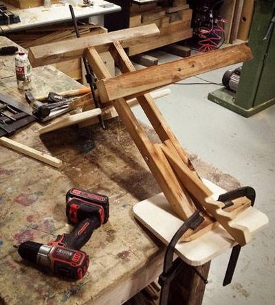 процесс изготовление коленного стула своими руками