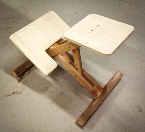 самодельный коленный стул