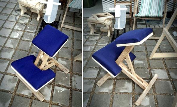 самодельный ортопедический коленный стул