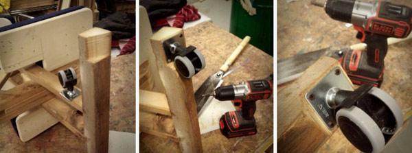 установка колесиков на коленный стул
