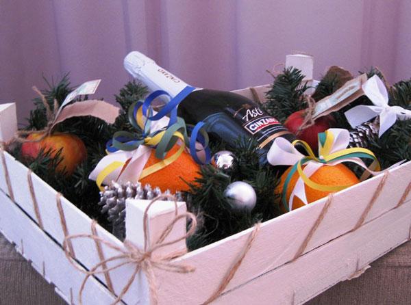 украшение подарков к новому году