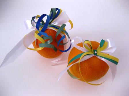 украшение апельсинов