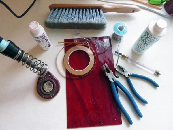 инструмент и материалы для изготовления витражей