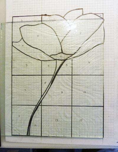 перенос линий на стекло