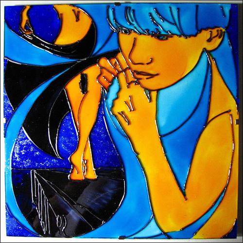 Роспись по стеклу красками