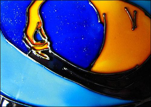 Роспись стекла витражными красками